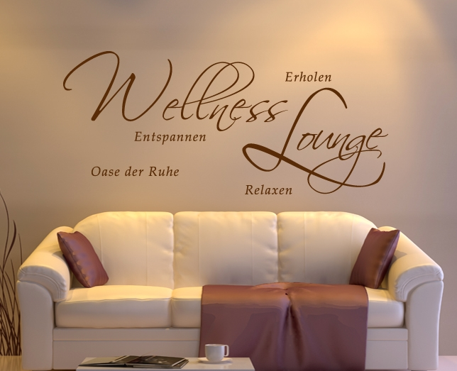 wandaufkleber tatoo spruch zitat entspannung wellness ebay. Black Bedroom Furniture Sets. Home Design Ideas